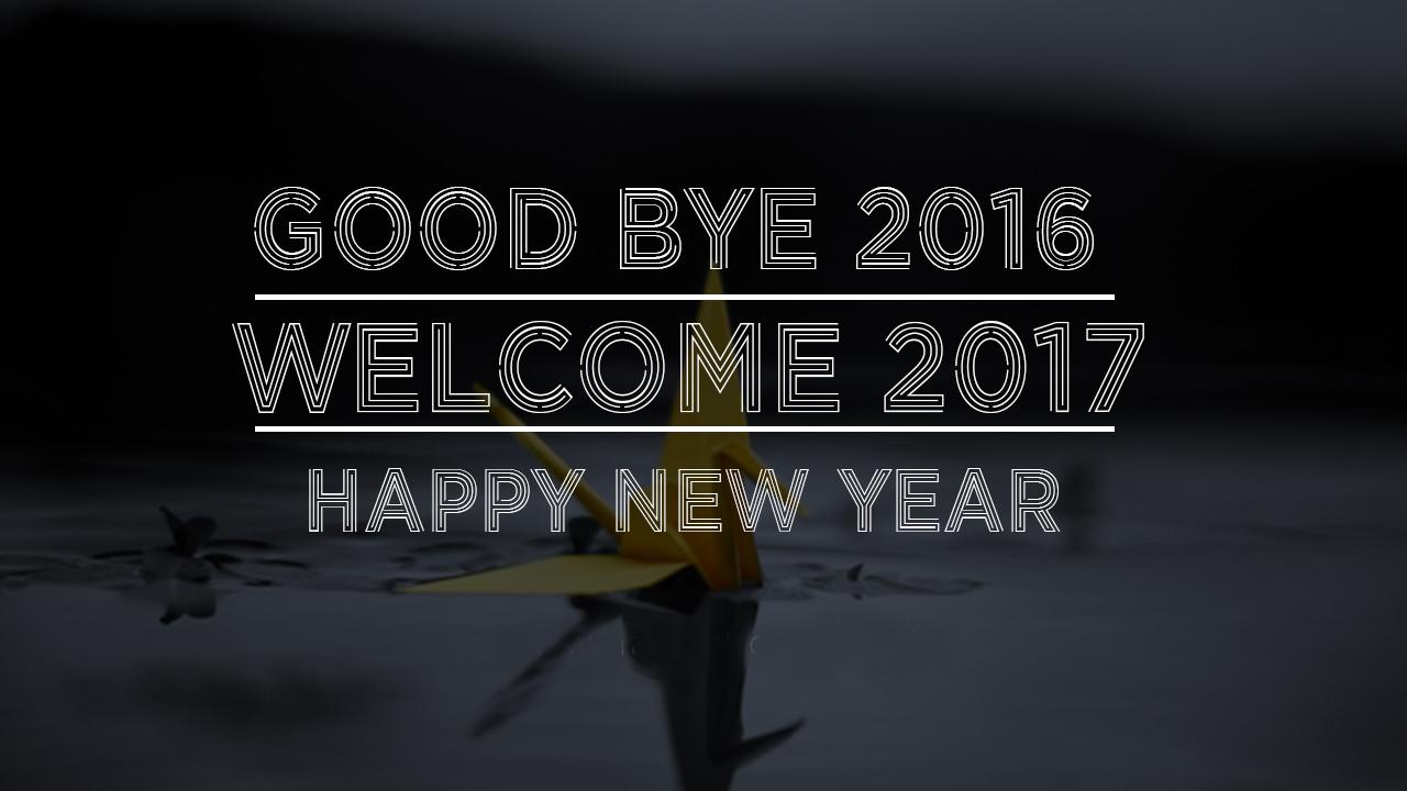 Goodbye 2016! Hello 2017!